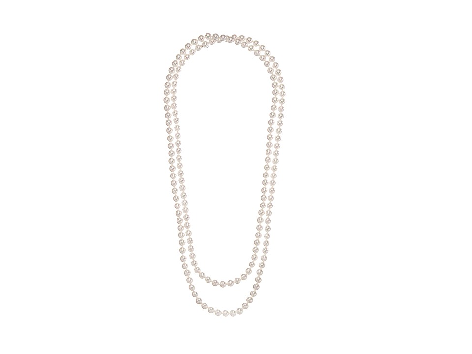 Majorica - 1 Row 8mm Endless Rope Necklace (White) Necklace