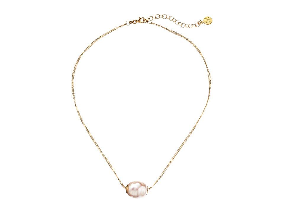 Majorica - 14mm Baroque 2 Row Chain Necklace