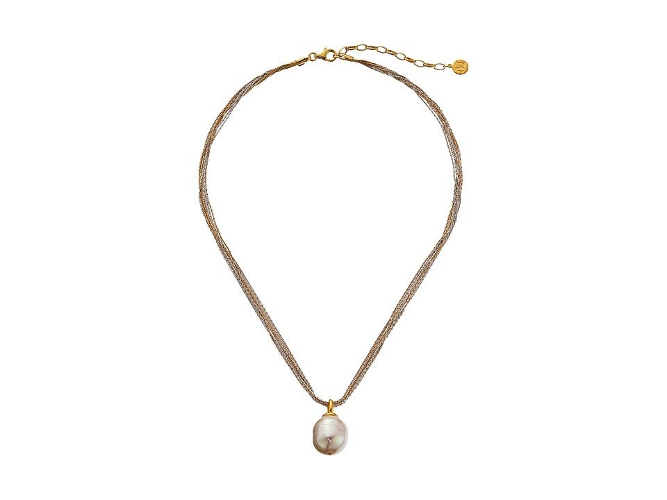 Majorica - 16mm Baroque Multichain Necklace
