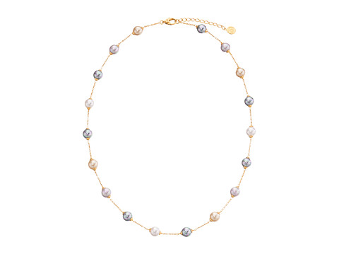 Majorica 18/8mm Illusion Necklace - Gold/Multi