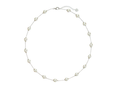 Majorica 18/8mm Illusion Necklace - Silver/White