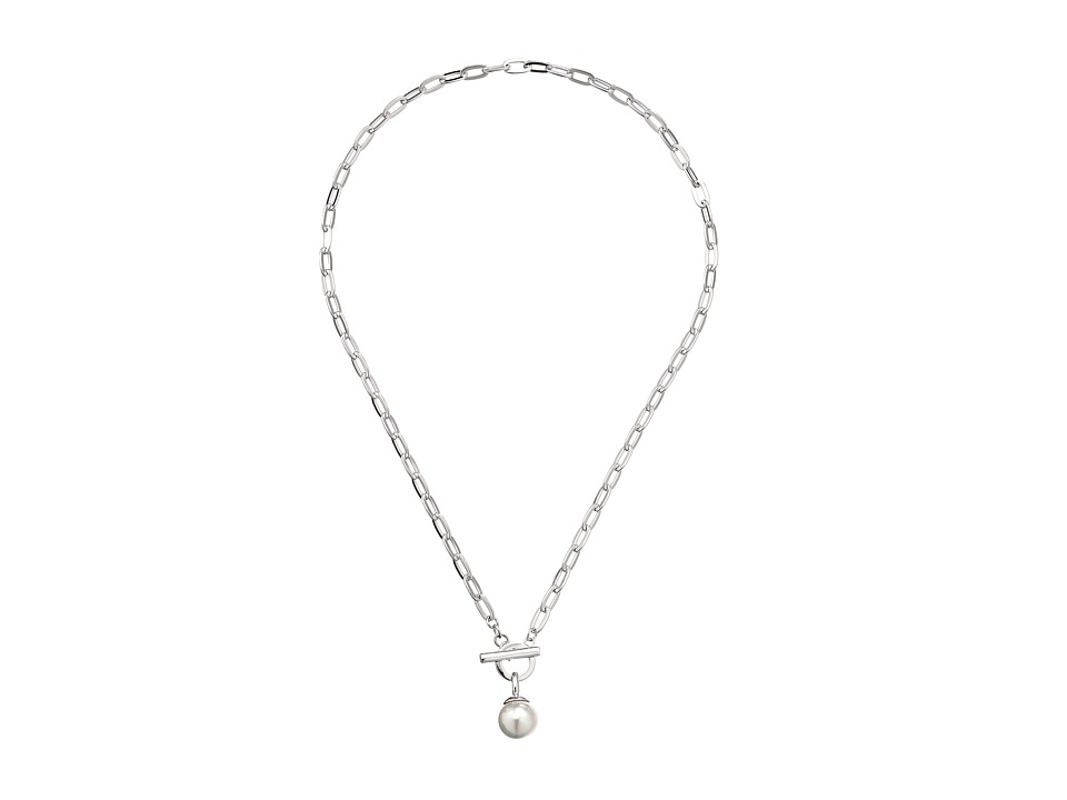 Majorica - 12mm SS w/ Small Oval Necklace