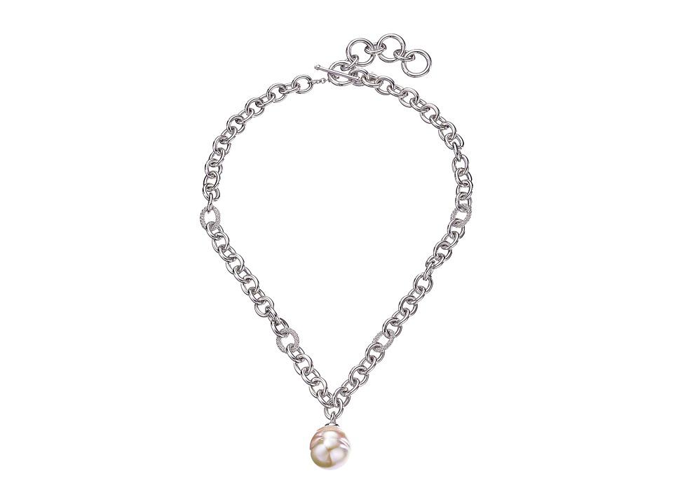 Majorica - 18mm Baroque Pendant Necklace 17