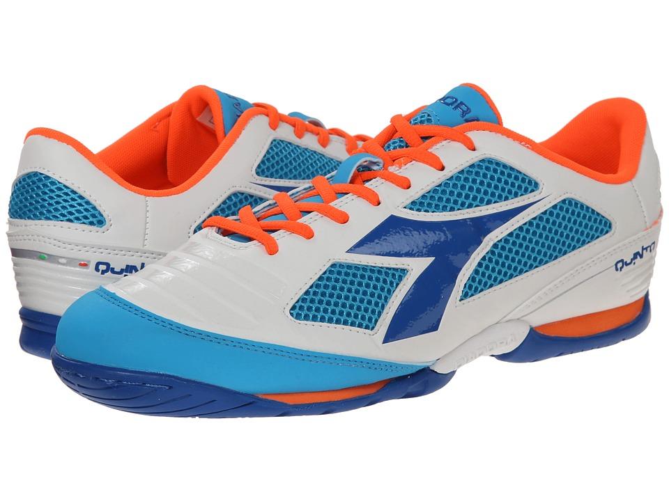 Diadora Quinto IV ID White/Blue Mens Shoes