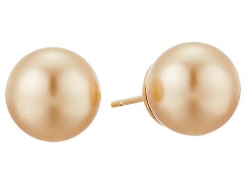 Majorica 10mm SS Stud Earrings - Champagne