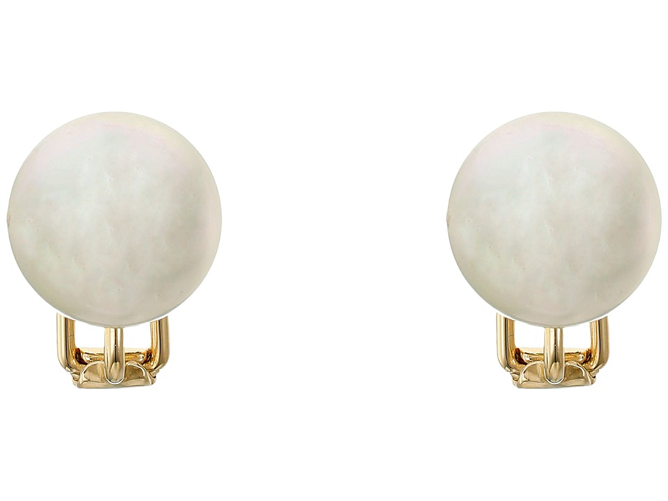 Majorica 14mm Stud Earrings (White) Earring