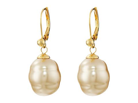 Majorica 12mm Baroque Pearl Drop Earrings - Champagne