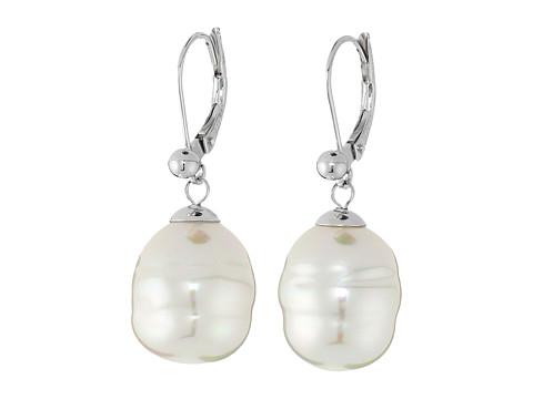 Majorica 12mm Baroque Pearl Drop Earrings - White 1