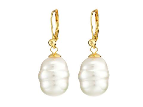 Majorica 12mm Baroque Pearl Drop Earrings - White