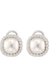Majorica - Pearl & CZ Eurowire Earrings