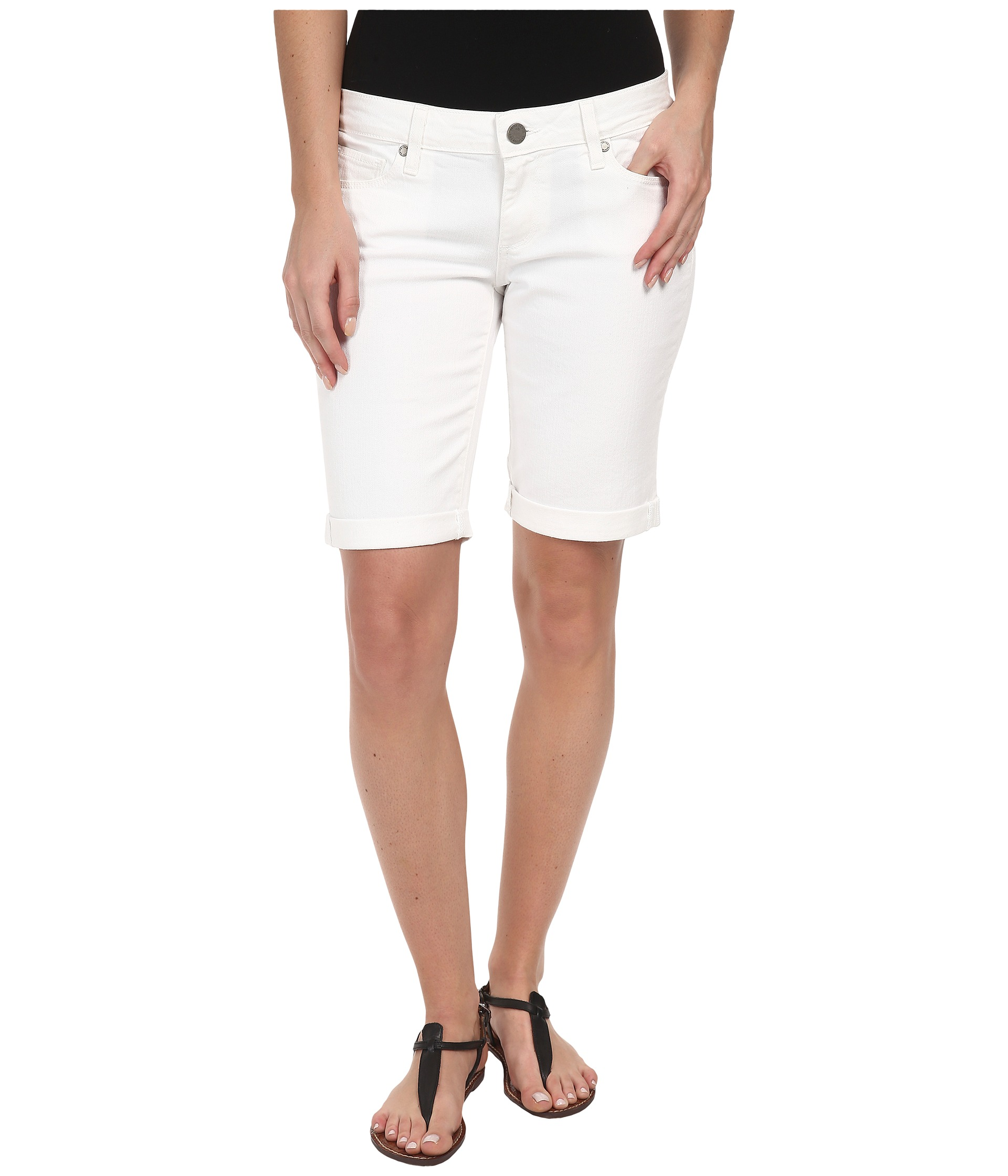 Paige Jax Knee Short in Optic White at Zappos.com