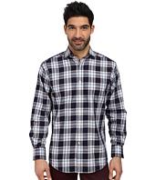 Thomas Dean & Co. - L/S Woven Shirt Textured Classic Plaid
