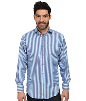 Thomas Dean & Co. - L/S Woven Shirt Oxford w/ Textured Stripe