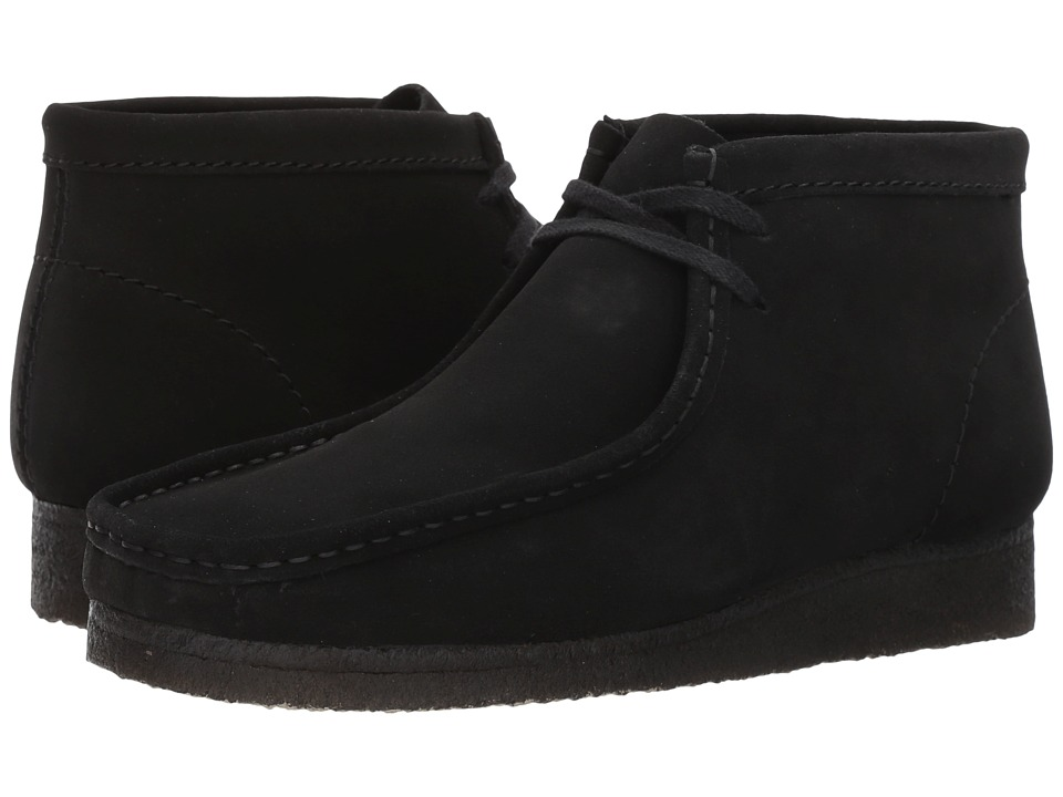 Clarks - Wallabee Boot (Black Suede) Men
