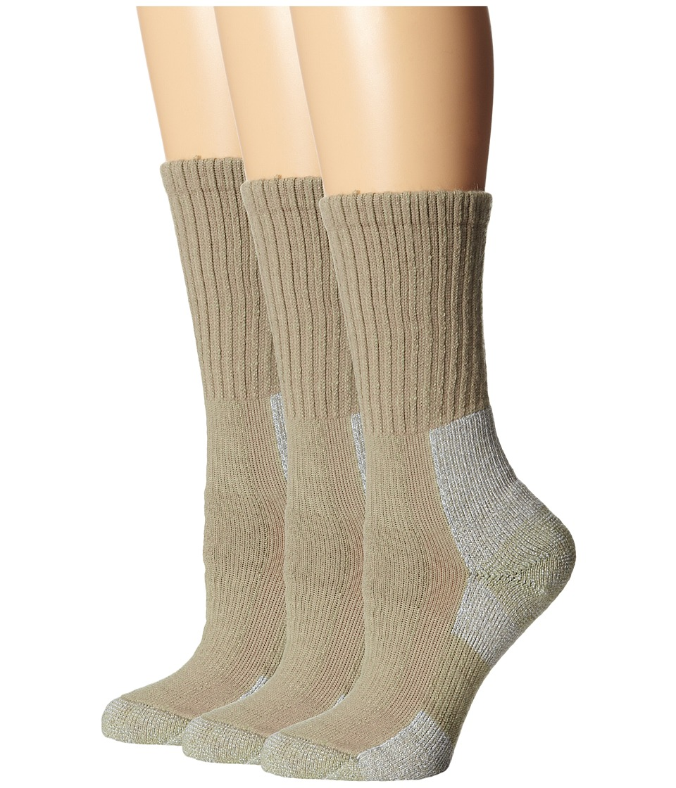 Thorlos - Trail Hiking Crew 3 Pair Pack (Khaki) Womens Crew Cut Socks Shoes