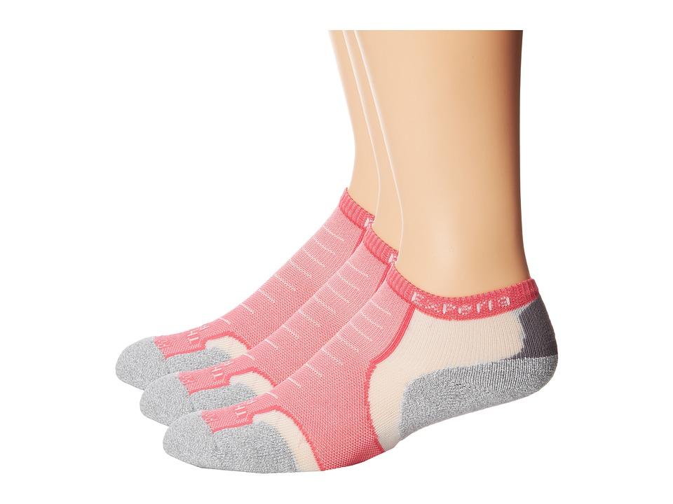 Thorlos Experia Micro Mini 3 Pair Pack Pink Flambe No Show Socks Shoes