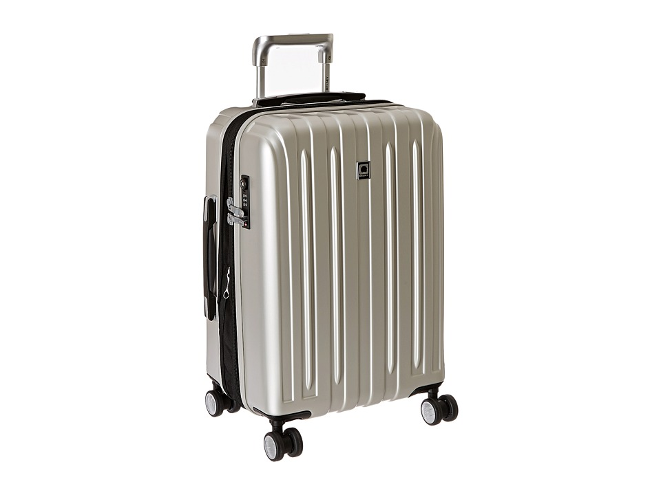 Delsey - Helium Titanium Expandable Carry-On Spinner Trolley (Silver) Luggage