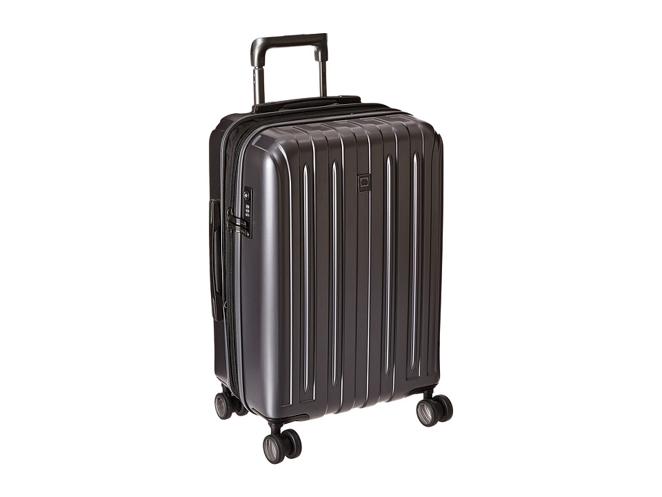 Delsey - Helium Titanium Expandable Carry-On Spinner Trolley (Graphite) Luggage