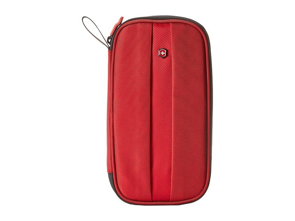 Victorinox - Travel Organizer w/ RFID Protection (Red) Wallet