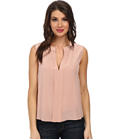 BCBGMAXAZRIA - Vanesa Folded Placket Sleeveless Top