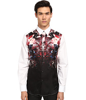 Just Cavalli - Bloom Print Silk Panel Front Shirt Button Up