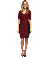 Maggy London - Mirror Jacquard Ponte Sheath w/ Elbow Sleeve Dress