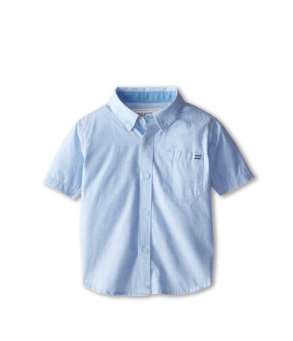 Billabong Kids All Day S/S Woven Toddler/Little Kids Light Blue Boys Short Sleeve Button Up