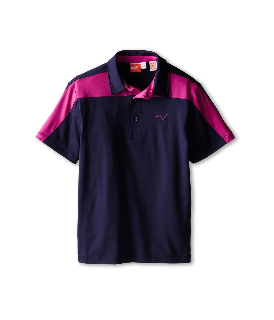 PUMA Golf Kids CB Tech Polo Big Kids Peacoat/Vivid Viola Boys Short Sleeve Knit