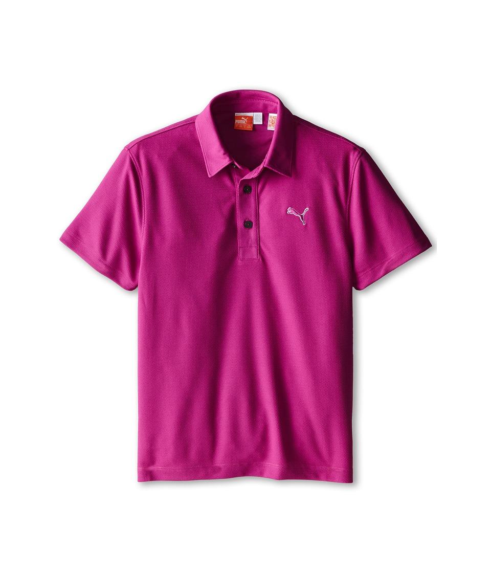 PUMA Golf Kids Tech Polo Big Kids Vivid Viola Boys Short Sleeve Pullover