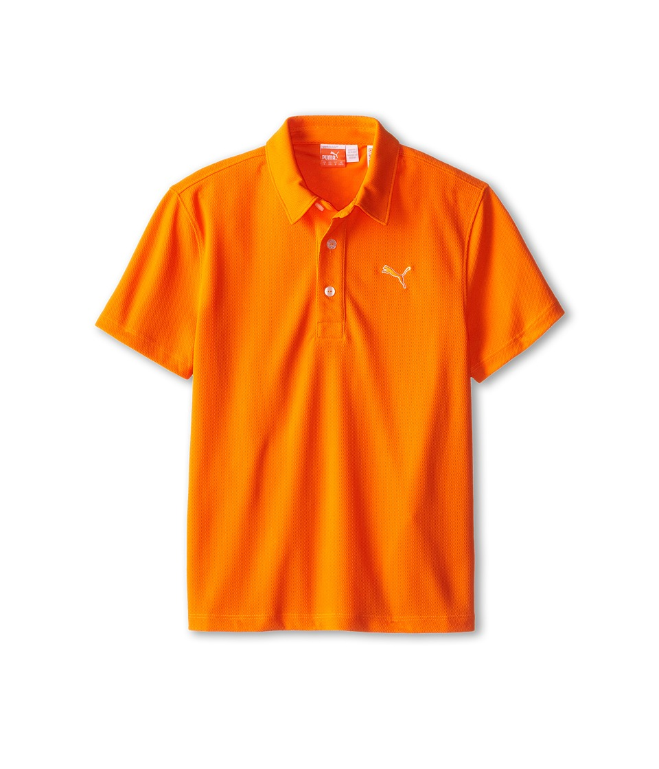 PUMA Golf Kids Tech Polo Big Kids Vibrant Orange SP15 Boys Short Sleeve Pullover