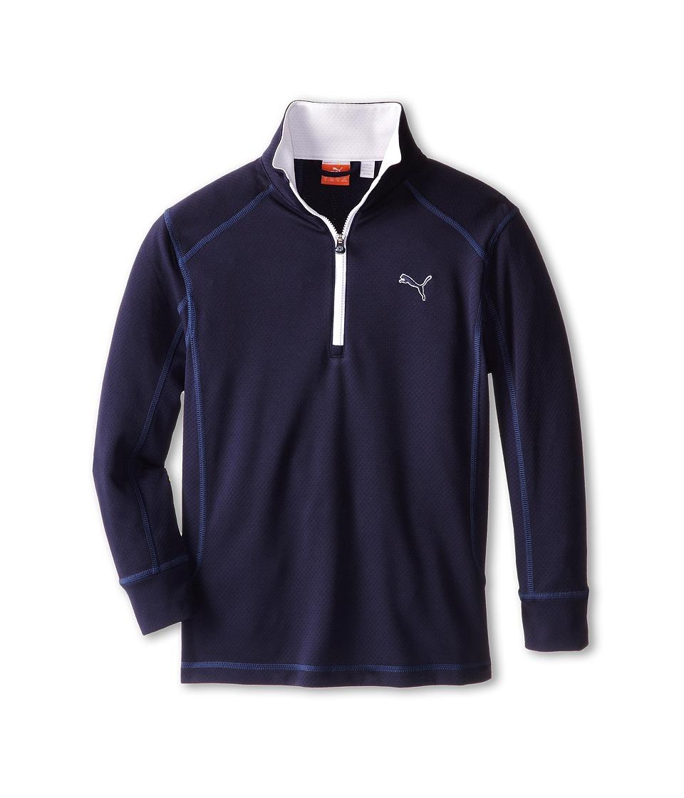 PUMA Golf Kids Golf L/S 1/4 Zip Top Big Kids Peacoat Boys Long Sleeve Pullover