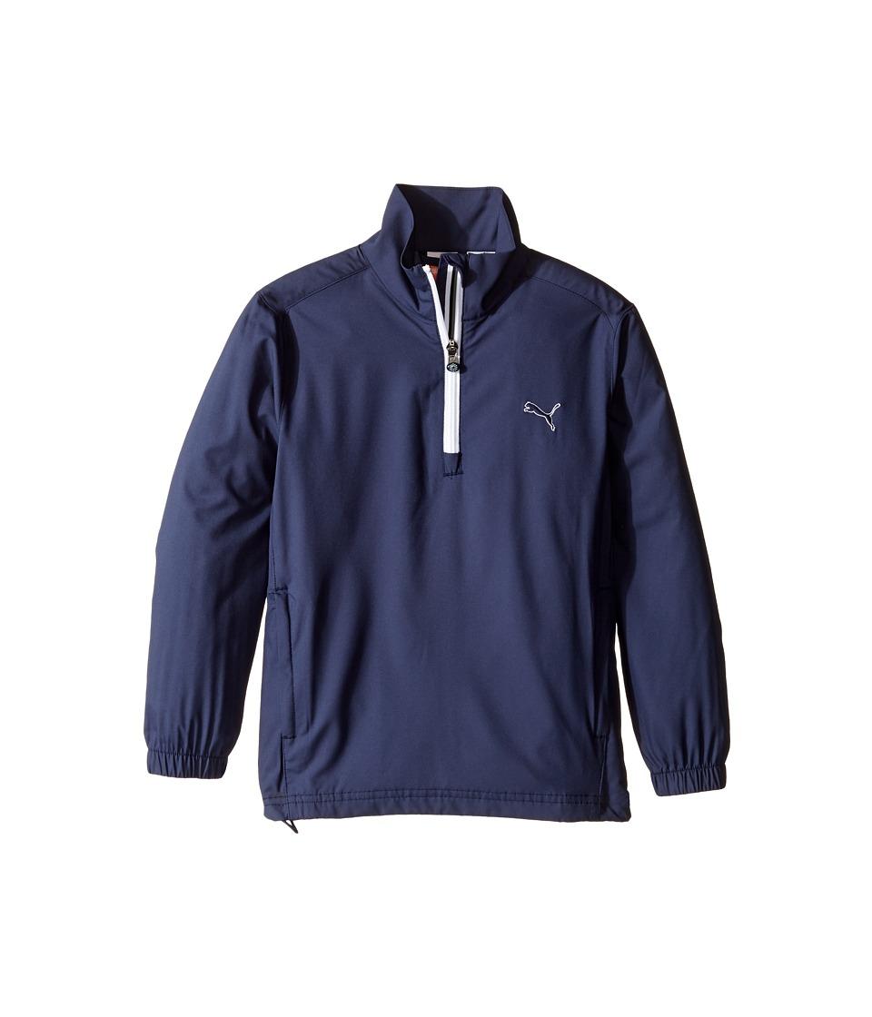 PUMA Golf Kids Half Zip Wind Jacket Big Kids Peacoat Boys Coat