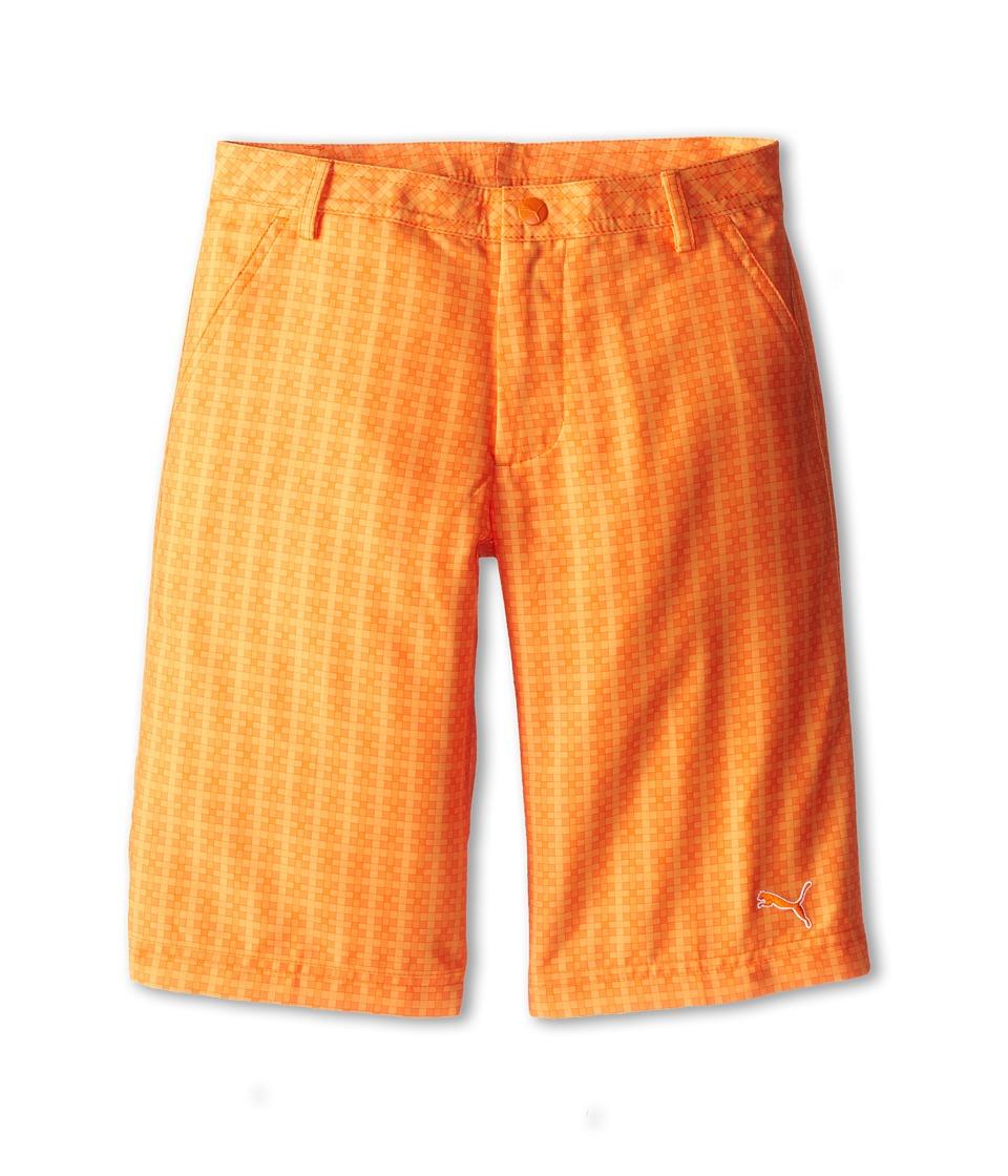 PUMA Golf Kids Novelty Short Big Kids Vibrant Orange/Orange Peel/Blazing Orange Boys Shorts
