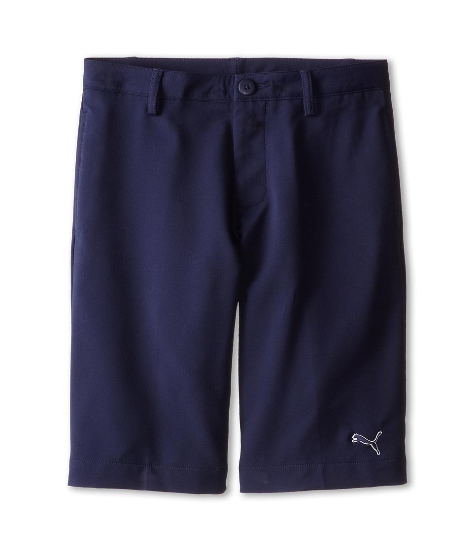 PUMA Golf Kids Tech Short Big Kids Peacoat Boys Shorts