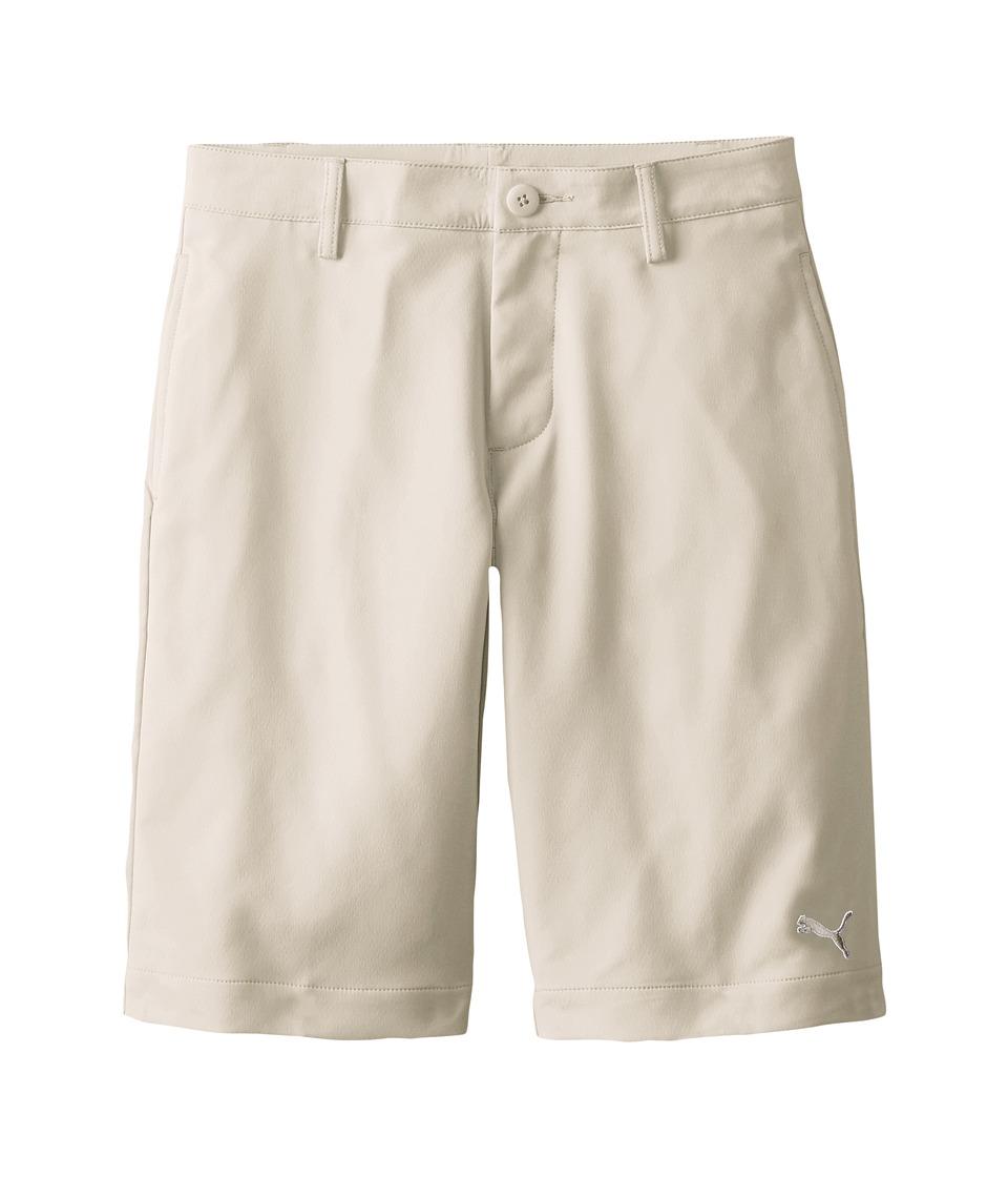 PUMA Golf Kids Tech Short Big Kids Oatmeal Boys Shorts