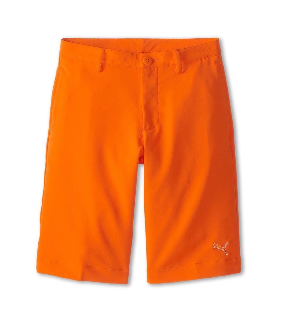 PUMA Golf Kids Tech Short Big Kids Vibrant Orange SP15 Boys Shorts