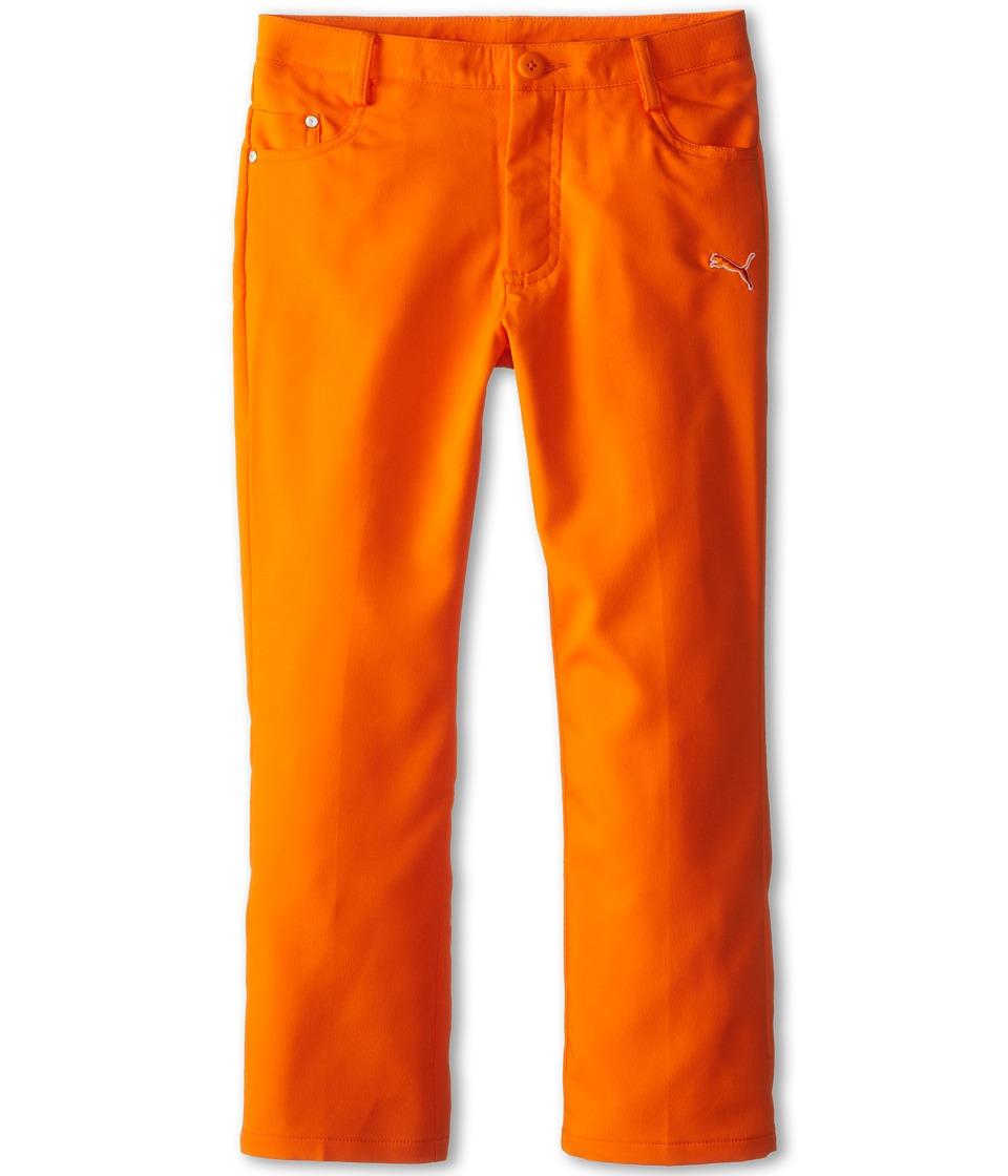 PUMA Golf Kids Five Pocket Pant Big Kids Vibrant Orange Boys Casual Pants