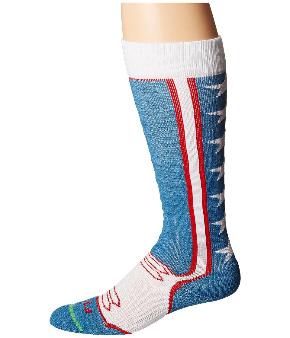 Fits Light Ski Tech OTC Red/White/Blue Knee High Socks Shoes