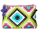 Gypsy SOULE Double Snap Accessorie Bag (Turquoise/Lime/Pink)