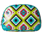 Gypsy SOULE Large Makeup Bag (Turquoise/Lime/Pink)