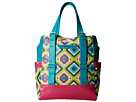 Gypsy SOULE Zip Top Tote (Turquoise/Lime/Pink)