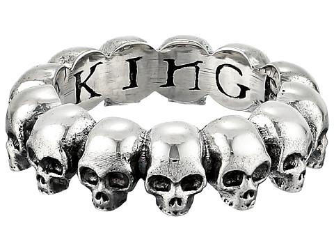 King Baby Studio Skull Infinity Ring - Silver