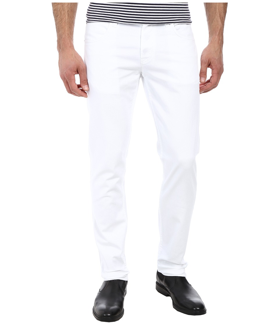 Hudson Blake Slim Straight in White White Mens Jeans