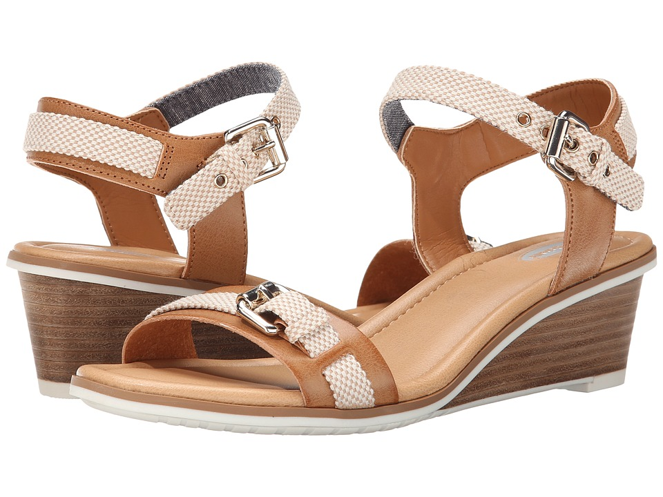Dr. Scholls Glendale Camel Beach Bag Womens Wedge Shoes