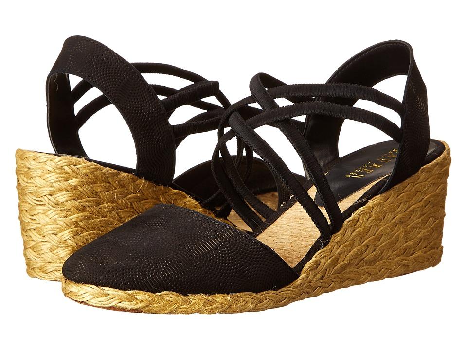 Shop LAUREN by Ralph Lauren online and buy LAUREN by Ralph Lauren Celena Black Geo Debossed Nubuck Women's Wedge Shoes online