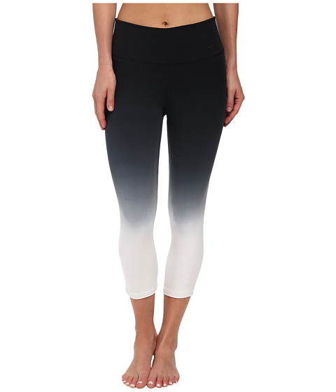 Nike - Legend 2.0 Sunset Tight Capri (Black/White/Black) Women's Workout