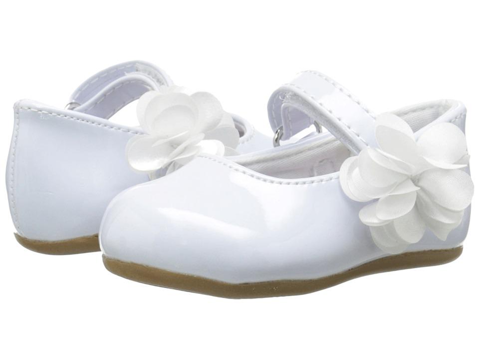 Baby Deer - Patent Skimmer Walker Sole (Infant/Toddler) (White) Girls Shoes