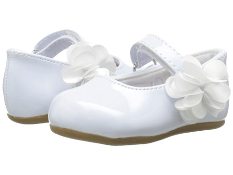 Baby Deer Patent Skimmer Walker Sole (Infant/Toddler) - White