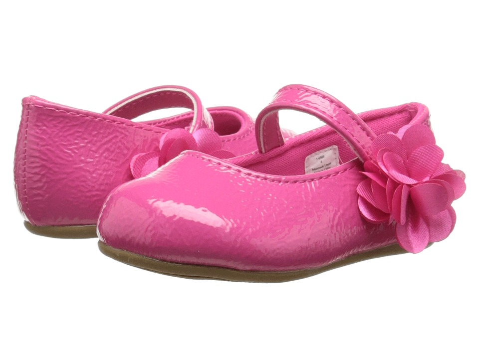 Baby Deer Patent Skimmer Walker Sole Infant/Toddler Fuchsia Girls Shoes