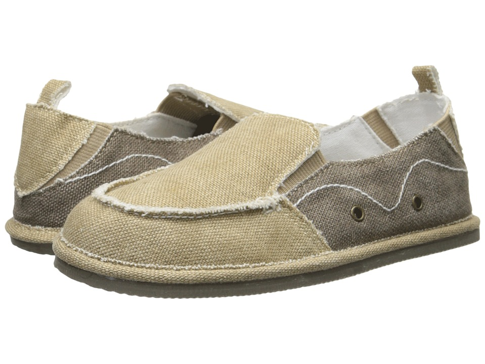 Baby Deer Canvas Slip On Walking Sole Infant/Toddler Khaki Boys Shoes